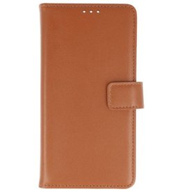 Leatherlook Bookstyle Wallet Cases for Xperia XA2 Ultra Brown