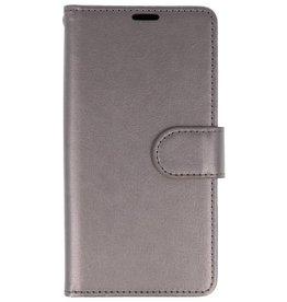 Wallet Cases Hoesje voor Huawei Honor 9 Lite Grijs