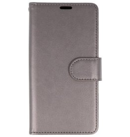 Wallet Cases Hülle für Huawei Honor 7X Grau