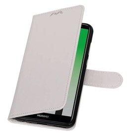 Huawei P20 Wallet Case Booktyp Brieftasche Weiß