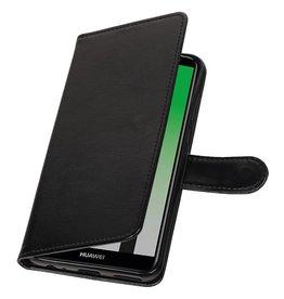 Huawei P20 Wallet Case Booktyp Brieftasche Schwarz