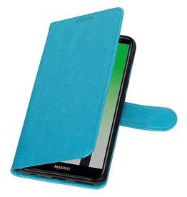 Huawei P20 Portemonnee hoesje booktype wallet Turquoise