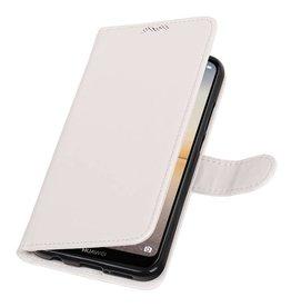 Huawei P20 Lite Brieftasche Etui Booktype Brieftasche Weiß