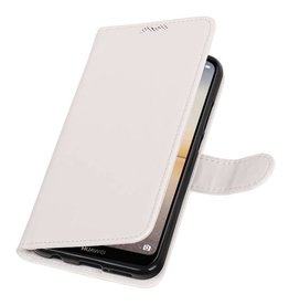 Huawei P20 Lite Wallet case booktype wallet White