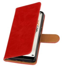 Pull Up PU Leder Bookstyle für Huawei P20 Pro Rot