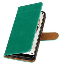 Pull Up PU Leather Bookstyle for Huawei P20 Pro Green
