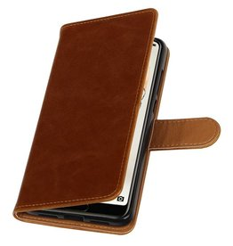 Pull Up PU Leather Bookstyle for Huawei P20 Pro Brown