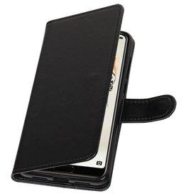 Huawei P20 Pro Wallet Tasche Booktype Brieftasche Schwarz