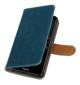 Pull Up PU Leder Bookstyle voor Huawei P Smart Blauw