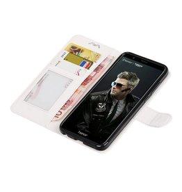 Huawei P Smart Brieftasche Booktype Brieftasche Fall Weiß