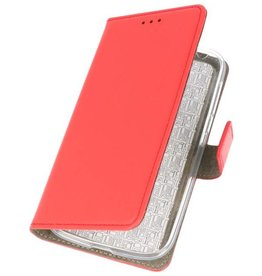 Bookstyle Wallet Cases Hoes voor Nokia 1 Rood
