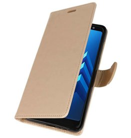 Wallet Cases Case for Galaxy A8 Plus (2018) Gold