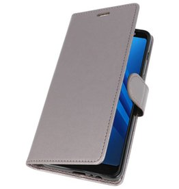 Wallet Cases Case for Galaxy A8 Plus (2018) Gray