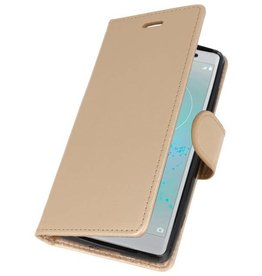 Wallet Cases Case for Xperia XZ2 Compact Gold
