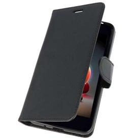 Wallet Cases Tasche für LG K8 2018 Schwarz