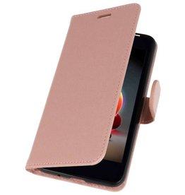 Wallet Cases Tasche für LG K8 2018 Pink
