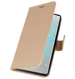 Wallet Cases Case for Xperia XZ2 Gold