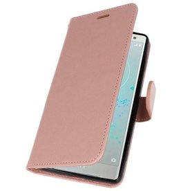 Wallet Cases Case for Xperia XZ2 Pink