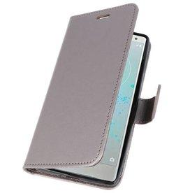 Wallet Cases Case for Xperia XZ2 Gray