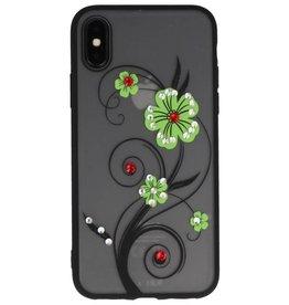 Diamand Lilien-Kästen für iPhone X Grün