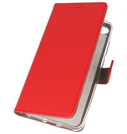 Bookstyle Wallet Cases Hoes voor Huawei Y6 2018 Rood