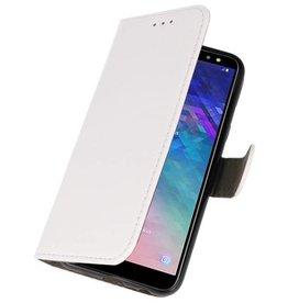 Bookstyle Wallet Cases Tasche für Galaxy A6 2018 Weiß