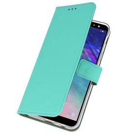 Bookstyle Wallet Cases Case for Galaxy A6 2018 Green