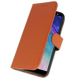 Bookstyle Wallet Cases Tasche für Galaxy A6 2018 Braun