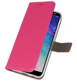 Bookstyle Wallet Cases Case for Galaxy A6 2018 Pink