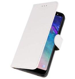 Bookstyle Wallet Cases Tasche für Galaxy A6 Plus 2018 Weiß
