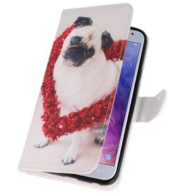 Dog Bookstyle Case for Galaxy J4 2018
