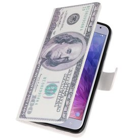 Dollar Bookstyle Hülle für Galaxy J4 2018