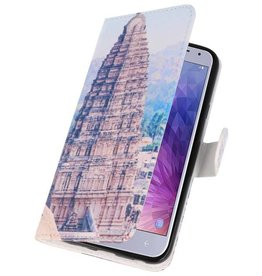Temple 1 Bookstyle Case for Galaxy J4 2018