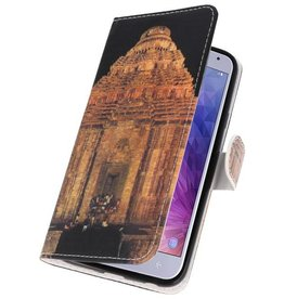 Temple 2 Bookstyle Case for Galaxy J4 2018