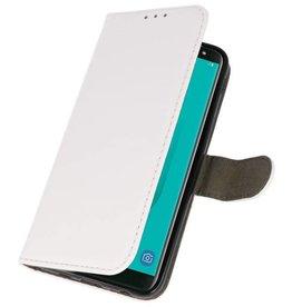Bookstyle Wallet Cases Tasche für Galaxy J6 2018 Weiß