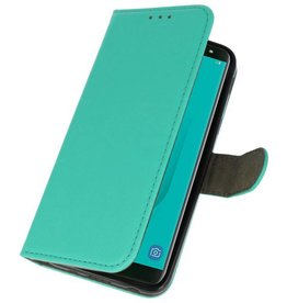 Bookstyle Wallet Cases Case for Galaxy J6 2018 Green