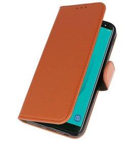 Bookstyle Wallet Cases Tasche für Galaxy J6 2018 Braun