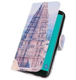 Temple 1 Bookstyle Case for Galaxy J6 2018