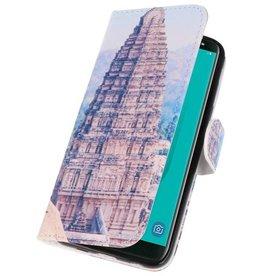 Temple 1 Bookstyle Hoesje voor Galaxy J6 2018