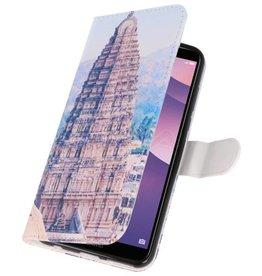 Temple 1 Bookstyle Hoesje voor Huawei Y7 2018