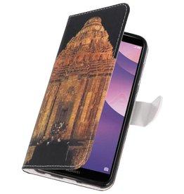 Temple 2 Bookstyle Tasche für Huawei Y7 2018
