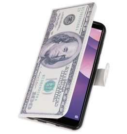 Dollar Bookstyle Hülle für Huawei Y7 2018