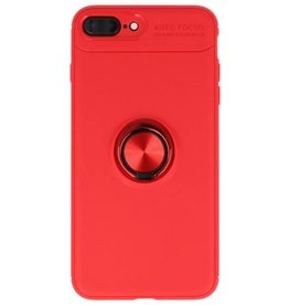 Softcase for iPhone 8/7 Plus Case with Ring Holder Red