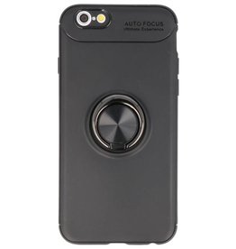 Softcase for iPhone 6 Case with Ring Holder Black