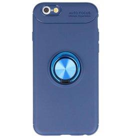 Softcase voor iPhone 6 Hoesje met Ring Houder Navy