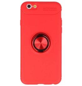 Softcase voor iPhone 6 Hoesje met Ring Houder Rood