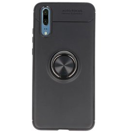 Softcase for Huawei P20 Case with Ring Holder Black