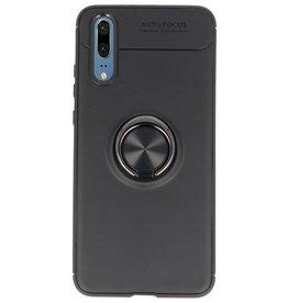 Softcase für Huawei P20 Case mit Ringhalter Schwarz