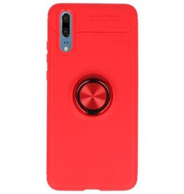 Soft case for Huawei P20 Case with Ring Holder Red