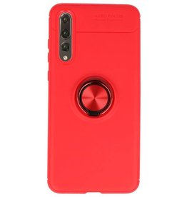 Soft case for Huawei P20 Pro Case with Ring Holder Red